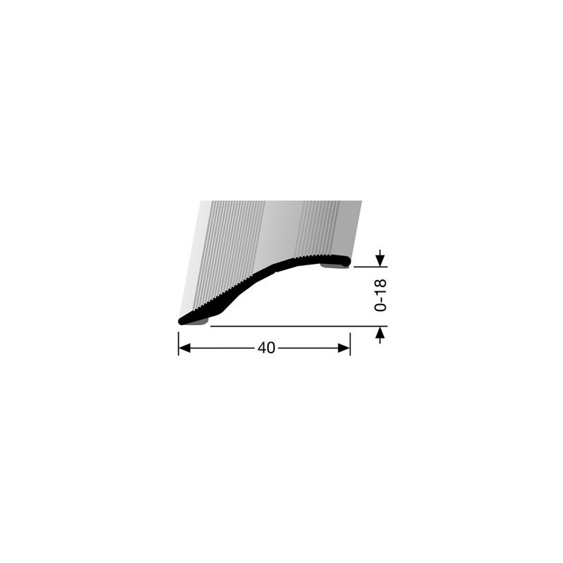 Overgangsprofiel zelfklevend 0-18 x 40 mm in diverse kleuren