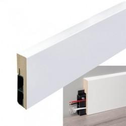 Stijlplint Blok met kabelgoot 18 x 80 mm wit folie