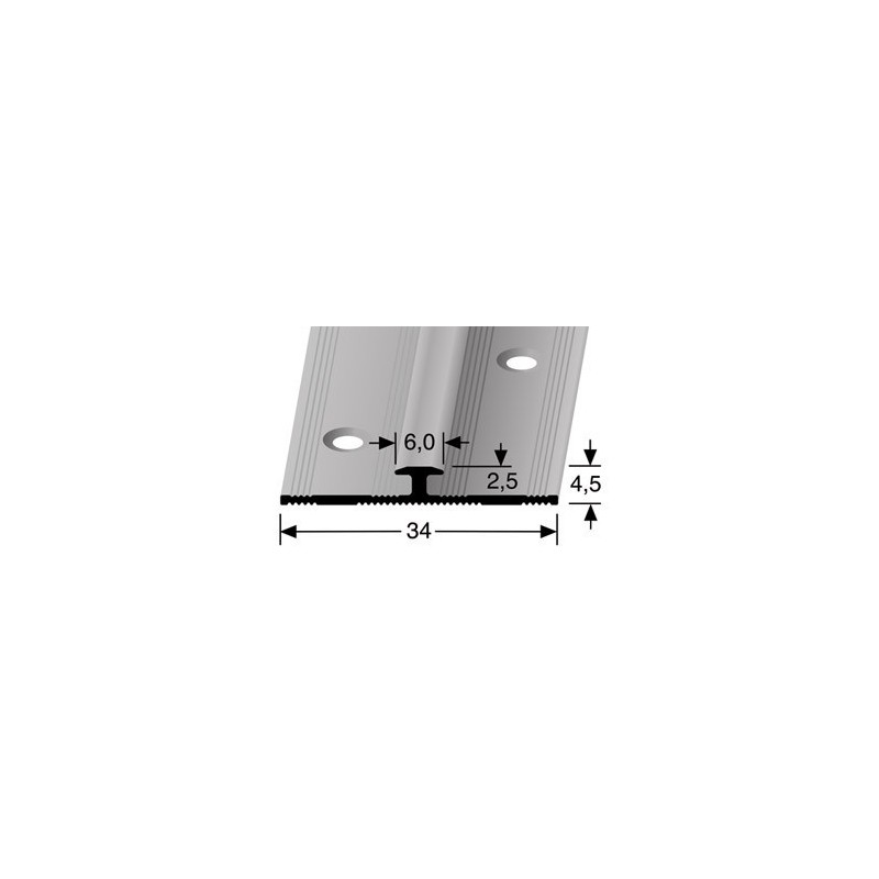 Inschuifprofiel pvc 6 mm zilver