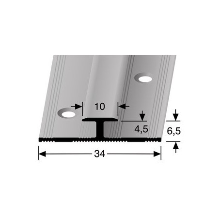 Inschuifprofiel pvc 10 mm zilver