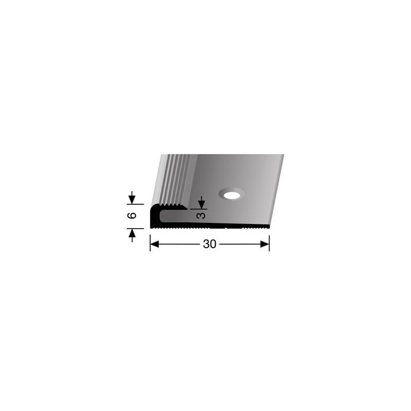 Inschuifprofiel eindprofiel pvc 3 mm zilver