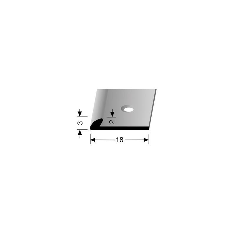 Afsluitprofiel pvc 3 mm zilver