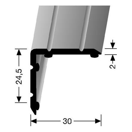 Hoekprofiel zelfklevend 2-zijdig 24.5 x 30 mm in diverse kleuren